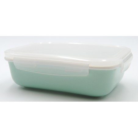 TUPPER PORCELANA 940 ml TURQUESA RECTANGULAR