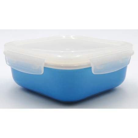 TUPPER PORCELANA 670 ml AZUL CUADRADO