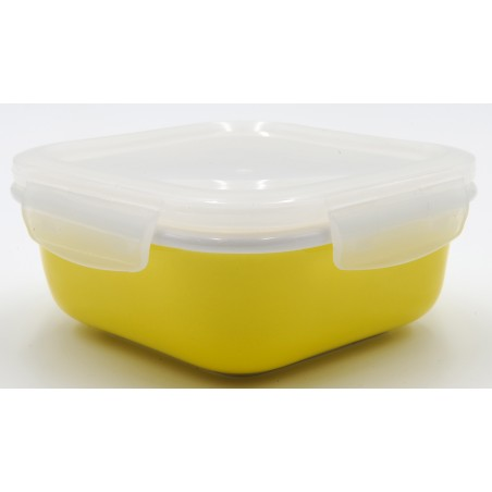 TUPPER PORCELANA 420 ml AMARILLO CUADRADO